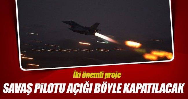 Savaş pilotu açığını kapatmak için 2 proje