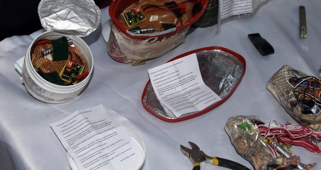 Krem ve çikolata kutusuna bomba yerleştirdiler