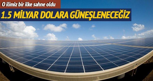 Güneşte ilk ihale 1.5 milyar dolarla Konya'da