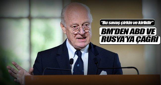 BM Özel Temsilcisi Mistura'dan ABD ve Rusya'ya çağrı