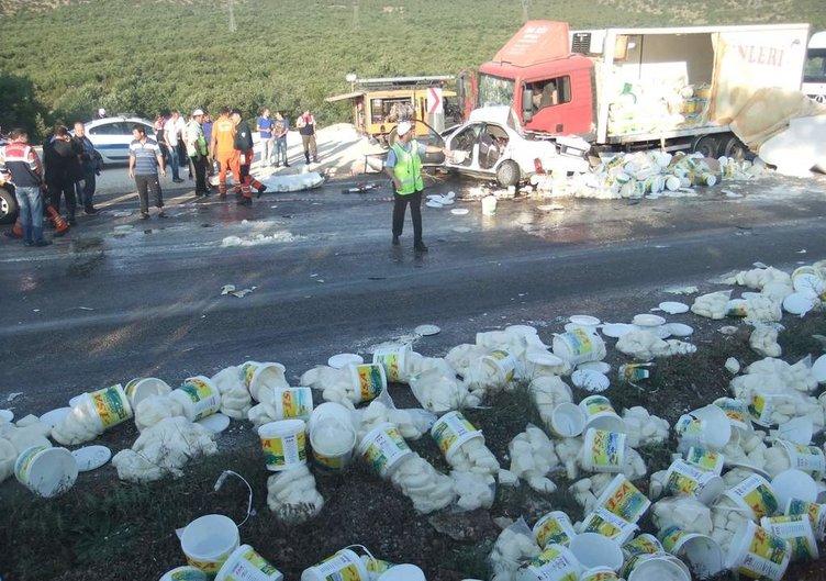 Kütahya'da feci kaza