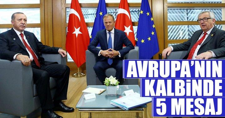 Avrupa'nın kalbinde 5 mesaj