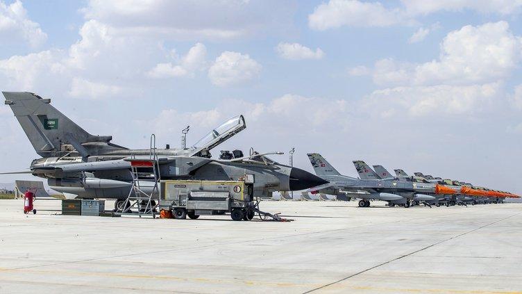 67 uçaklı dev tatbikat Konya'da başladı