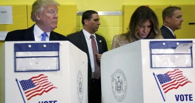Oy kullanırken karısına bakışı sosyal medyada gündem oldu
