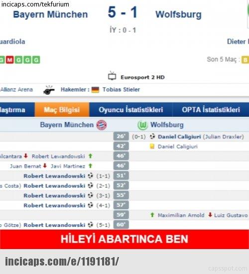 Lewandowski 9 dakikaya 5 gol sığdırdı capsler patladı!