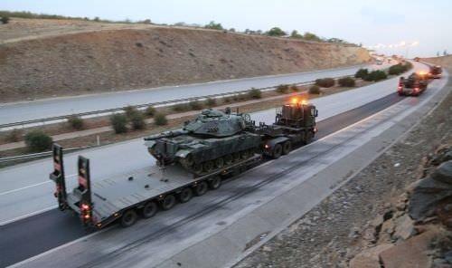 Suriye sınırına yeni tank sevkıyatı