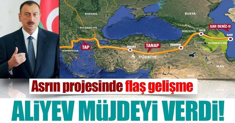 Aliyev: TANAP'ın yüzde 72'si tamamlandı