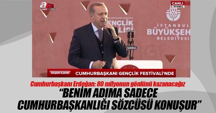 Cumhurbaşkanı Erdoğan: Benim adıma sadece Cumhurbaşkanı sözcüsü konuşur
