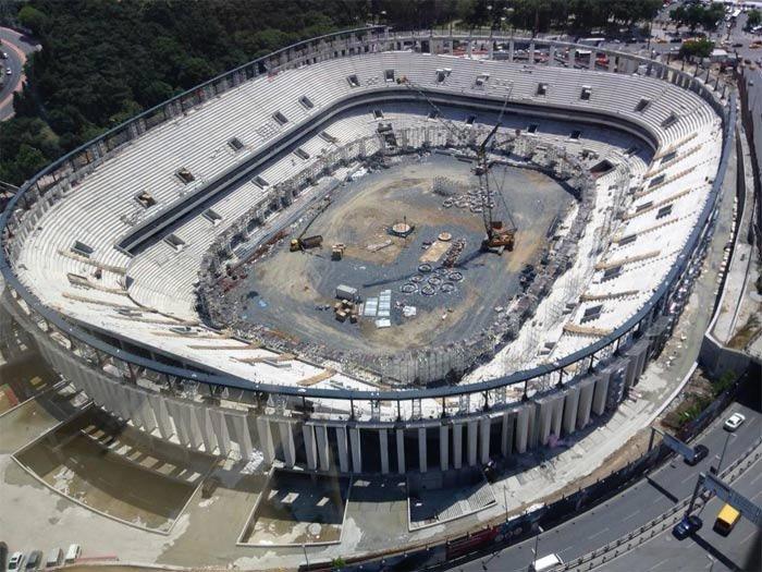 Vodafone Arena inşaatında flaş gelişme