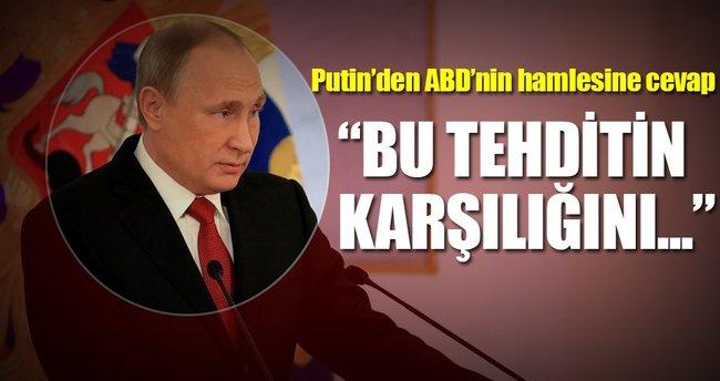 Putin'den ABD'nin hamlesine cevap