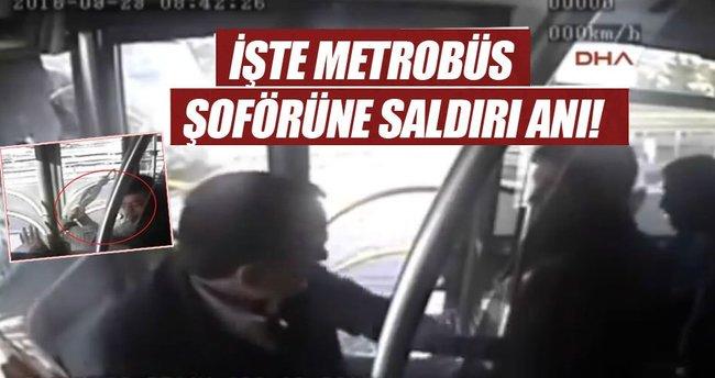 İşte metrobüs şoförüne saldırı anı