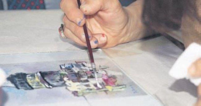 Cam altı resim sanatı öğrencilerin elinde hayat buluyor