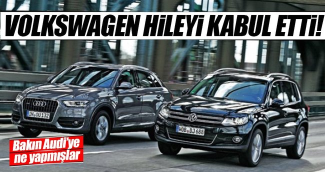 VW, Audi`deki emisyon hilesini kabul etti