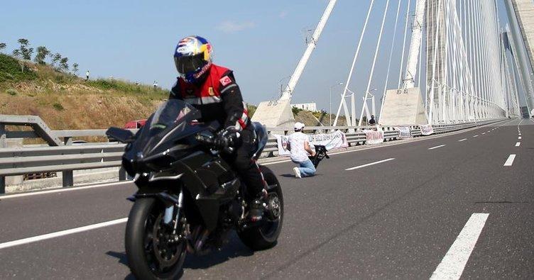 350 kilometre hızla Yavuz Sultan Selim Köprüsü'nden geçti