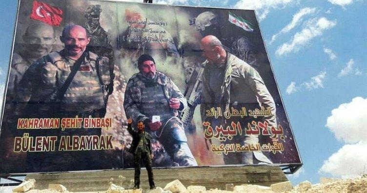 El Bab, şehit binbaşının posterleriyle donatıldı