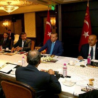 Erdoğan, Hindistan`ın önde gelen CEO`ları ile bir araya geldi