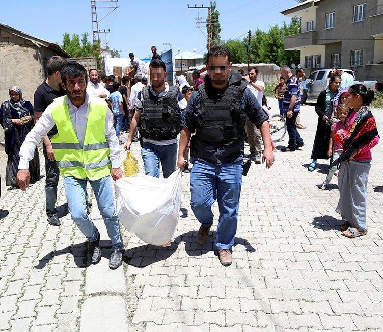 Terör mağdurlarına bayram yardımı