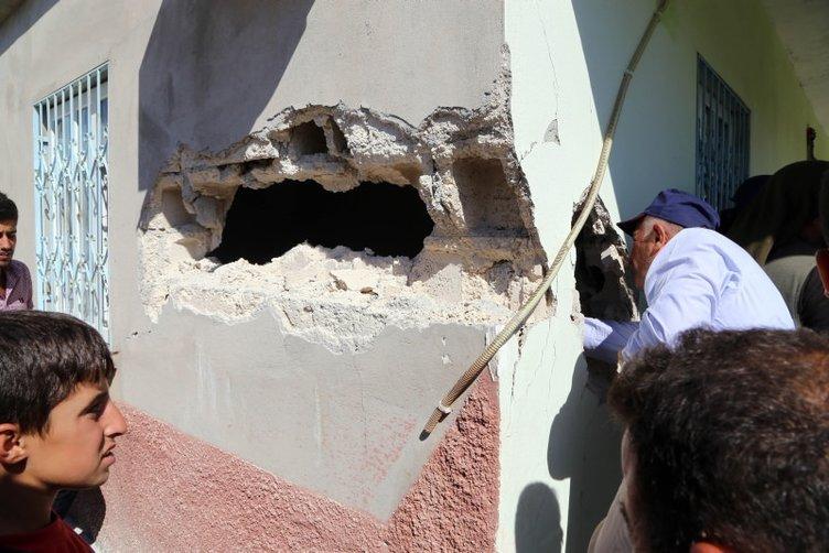 Suruç'ta bir eve havan mermisi düştü