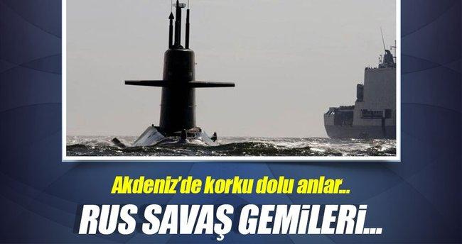 Rus savaş gemileri Hollanda denizaltısının peşinde