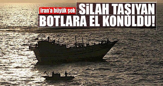 Aden Körfezi'nde İran botlarına el konuldu