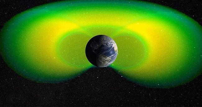 Dünya'yı çevreleyen iç radyasyon