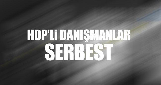 HDP'li danışmanlar serbest bırakıldı