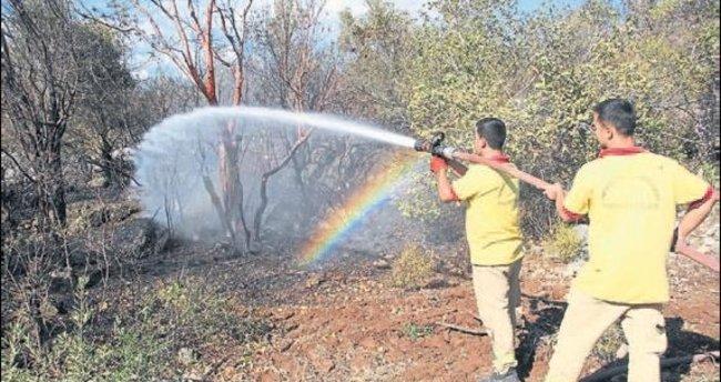 Mersin'de çifte orman yangını