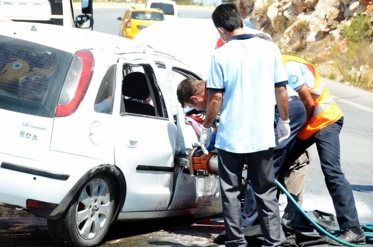 Bodum'da tatil dönüşü feci kaza