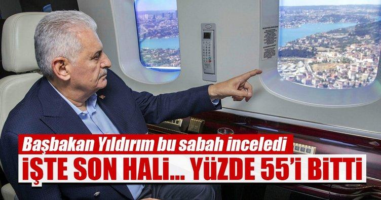 Başbakan Yıldırım, 3. Havalimanı inşaatını inceledi
