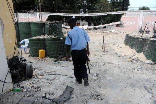 Bombalı saldırıya hedef olan elçilik binası