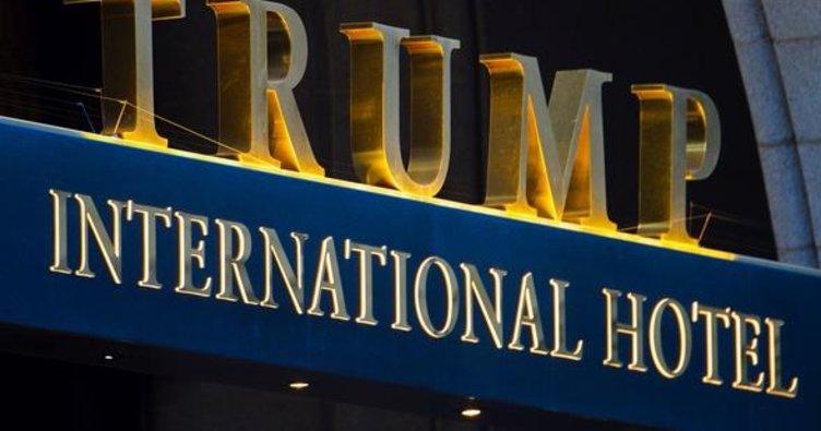 Washington'da Trump Otel'in önünde hareketli dakikalar