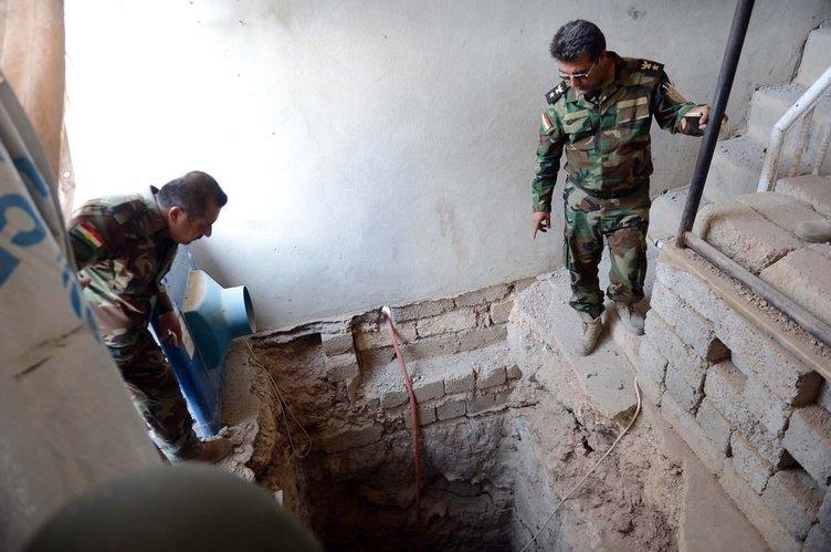 DEAŞ'in Musul'daki tünelleri ortaya çıktı