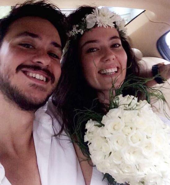 Pelin Akil ve Anıl Altan'ın nikahından kareler
