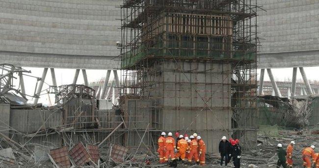 Çin'deki elektrik santralinde göçük