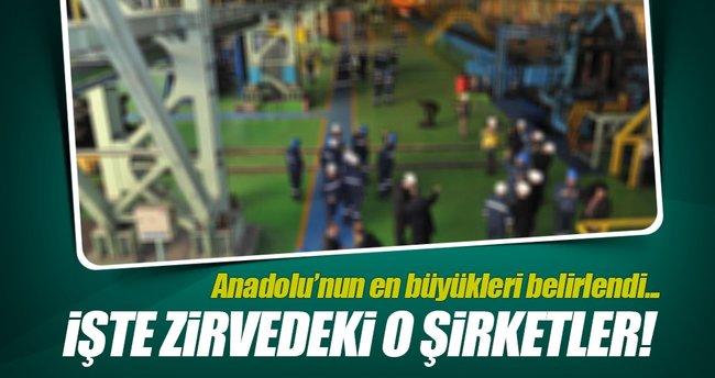 Anadolu'nun en büyük 500 şirketi belirlendi!
