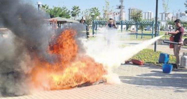 Adana BTÜ'de yangın tatbikatı