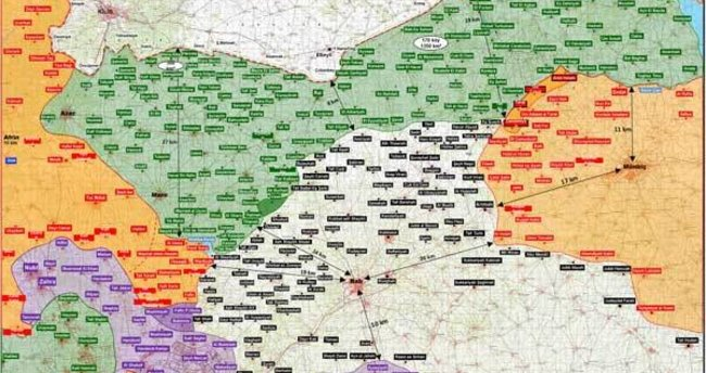 TSK Fırat Kalkanı operasyonunun haritasını yayınladı
