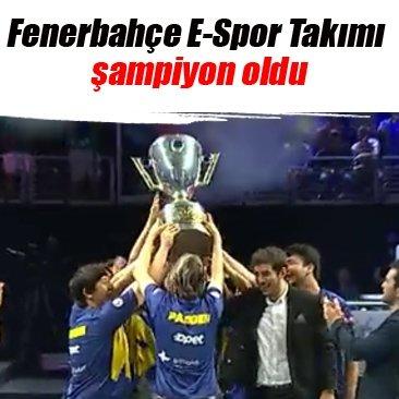 Fenerbahçe E-Spor Takımı şampiyon oldu