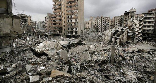 Afet sonrası hasarlı alanlara havadan görüntüleme