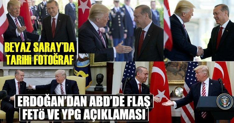 Beyaz Saray'da tarihi Trump-Erdoğan görüşmesi gerçekleşti