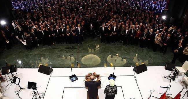 Cumhurbaşkanı Külliyesi'nde 29 Ekim resepsiyonu