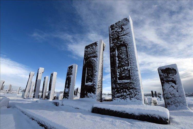 Tarihi ilçede kış başka güzel