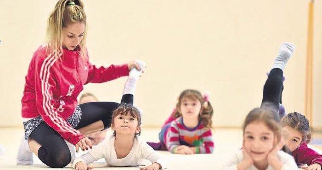 Geleceğin cimnastikçileri