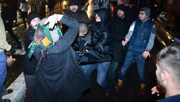 Taksim'de taciz!