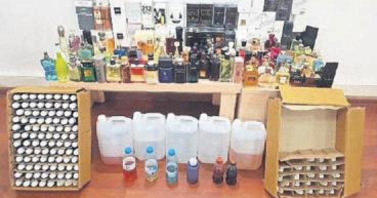 Kaçak parfüm ve içki operasyonu
