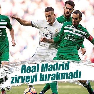 Real Madrid zirvede kaldı