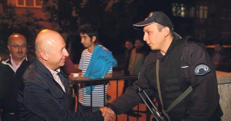 Çolakbayrakdar'dan polis ziyareti