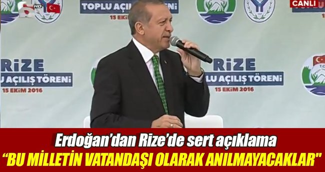 Erdoğan, firar eden FETÖ'cülere seslendi