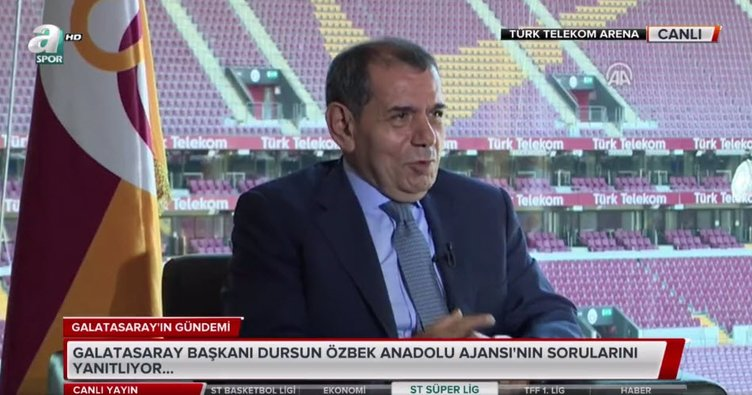 Dursun Özbek'ten gündem yaratacak açıklamalar