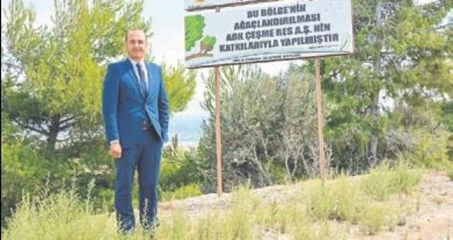 Abk Çeşme RES'ten doğaya 14 bin fidan